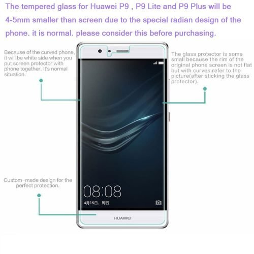 Huawei P9 smaller glass