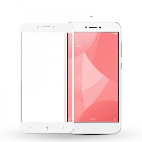 Xiaomi Redmi 4x Full Cover 9H Glass white