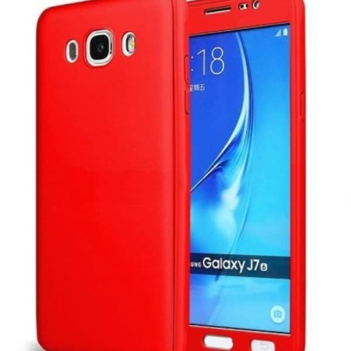 Galaxy j7 2016 – Full Body 360 + Tempered Glass -red– oem