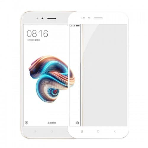 Xiaomi Mi A1 Mi 5X - Full Cover Tempered Glass -Λευκό