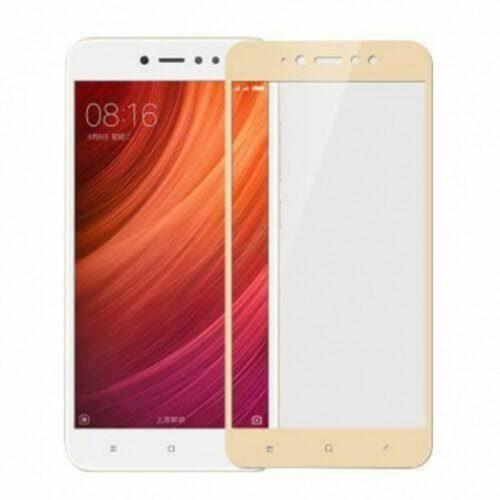 Xiaomi Redmi Note 5A prime - Full Cover Tempered Glass – Gold - oem