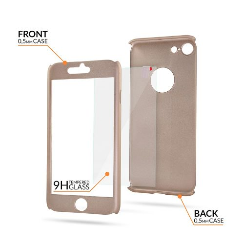 iphone 6 - Full Body 360 + Tempered Glass - Gold-oem 1