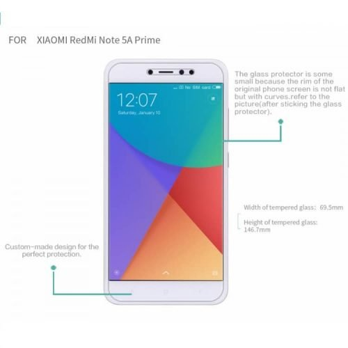 redmi note 5A glass 3