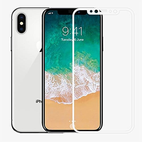 IPHONE X 0.30mm - Full 3D Glass -Full GLUE - WHITE