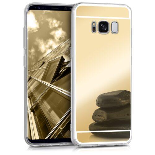 KW Samsung Galaxy S8 Θήκη Σιλικόνης TPU Καθρέφτης - Gold
