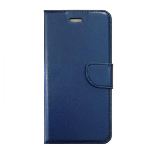 Book Leather Stand Case Dark Blue