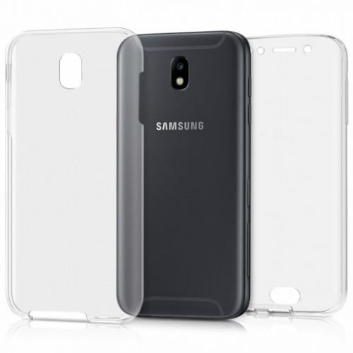 OEM Front Back plastiko Διάφανο (Galaxy J5 2017) oxi silikoni