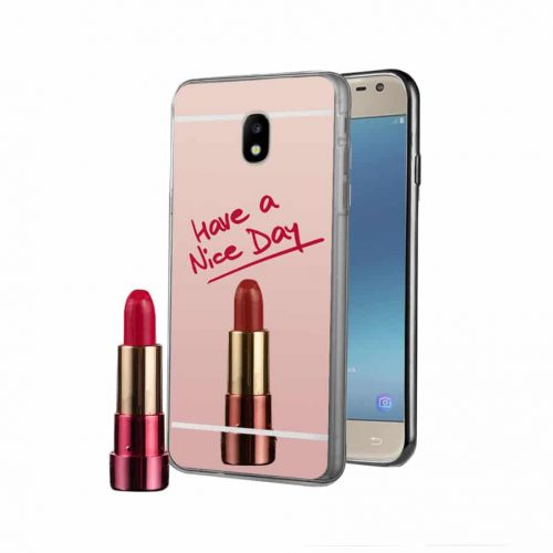 OEM Mirror Back Cover Σιλικόνης Ροζ (Galaxy J7 2017) 2