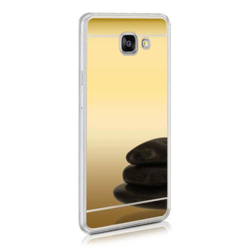 OEM Mirror Slim Fit Gel Case Θήκη Σιλικόνης Gold (Samsung Galaxy A3 - 2016)