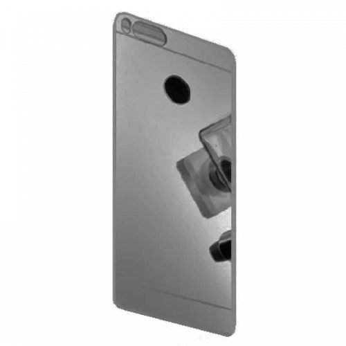 TPU Silicone Back Cover Case Mirror – Black-(oem)