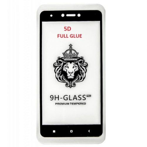 XIAOMI REDMI NOTE 4X 5D 9H CURVED GLASS WITH FULL GLUE FULL TEMPERED GLASS BLACK