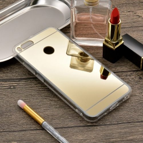 Xiaomi Mi 5X Mi A1 --TPU Silicone Back Cover Case -Mirror – Gold2