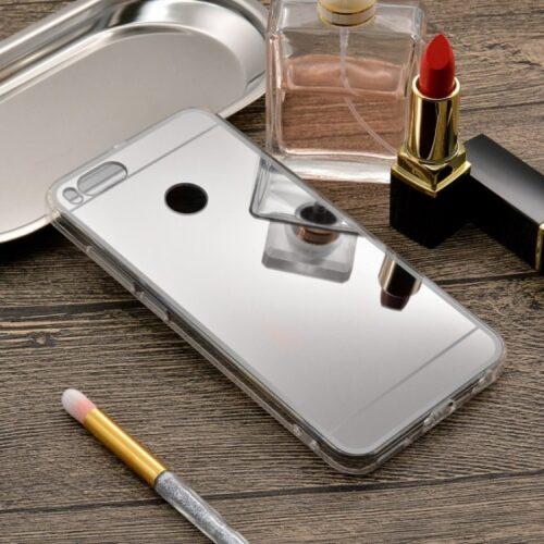 Xiaomi Mi 5X Mi A1 --TPU Silicone Back Cover Case -Mirror – silver