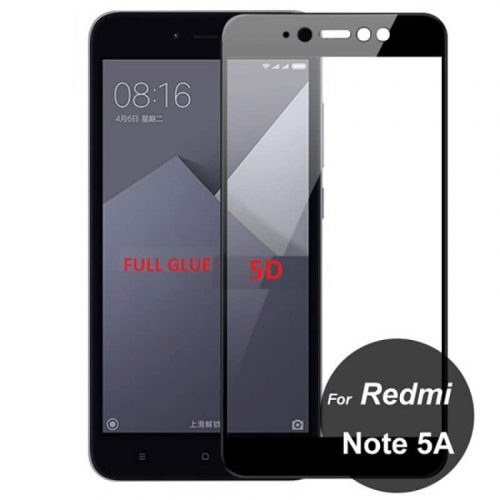 Xiaomi Redmi Note 5A Prime 5D - Full Glass - Full GLUE - Black
