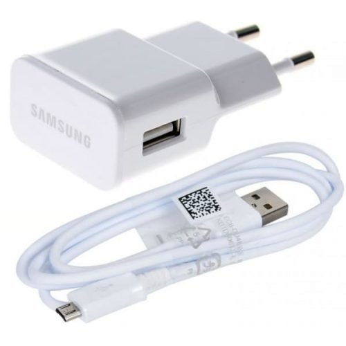 Samsung micro USB Cable & Wall Adapter Λευκό (ETA-U90EW & ECB-DU4AWE) blister