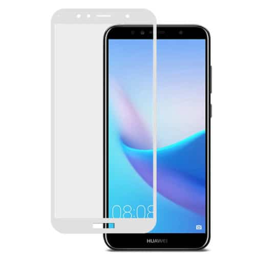FULL TEMPERED GLASS HUAWEI Y6 (2018) - WHITE