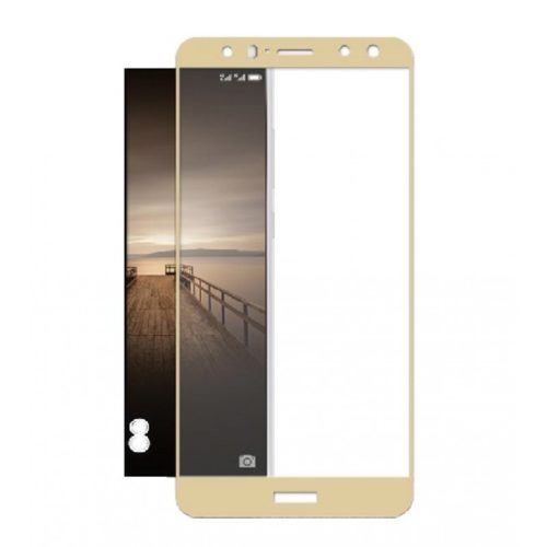 Huawei Mate 10 Lite - Full Tempered Glass - Gold- oem