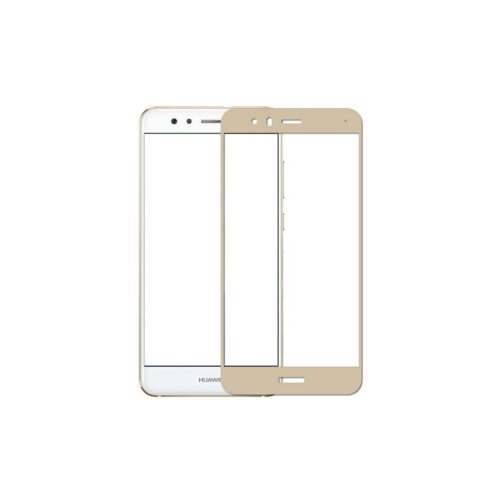 Huawei P10 Lite - Full Tempered Glass - Gold- oem