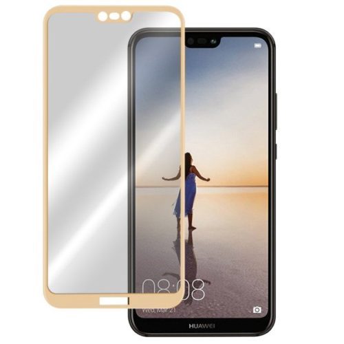 Huawei P20 Lite - Full Tempered Glass - Gold- oem