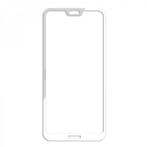 Huawei P20 Lite - Full Tempered Glass - White - oem