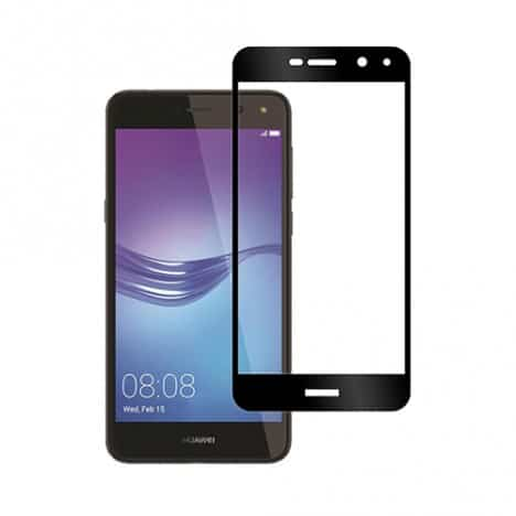Huawei Y6 2017 - Full Tempered Glass - Black - oem