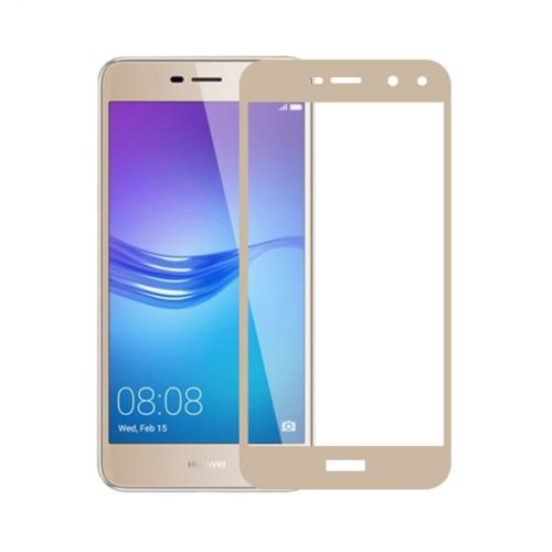 Huawei Y6 2017 - Full Tempered Glass - Gold- oem