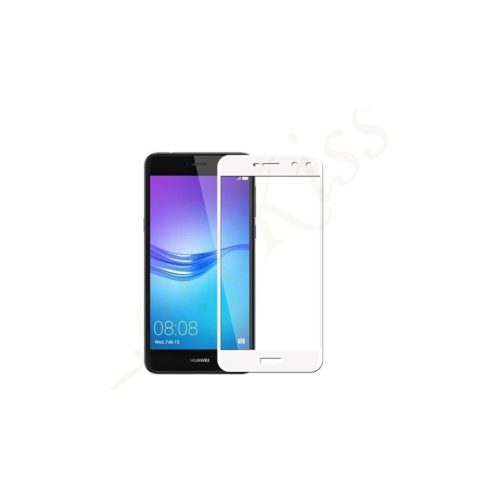 Huawei Y6 2017 - Full Tempered Glass - white - oem
