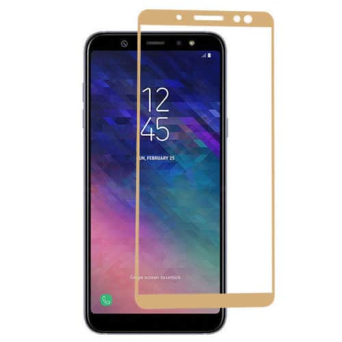Samsung Galaxy A6 2018 - Full Tempered Glass - Gold -oem