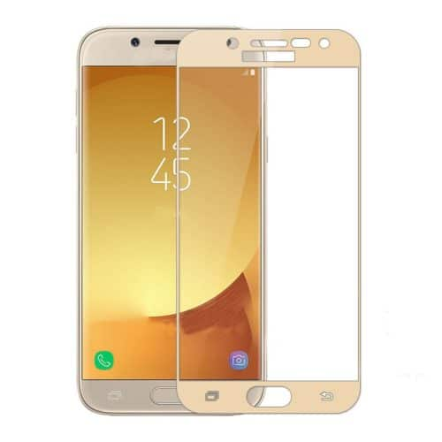 Samsung Galaxy J7 2017 (J730F)- Full Tempered Glass - gold
