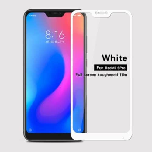 Xiaomi Mi A2 Lite (Redmi 6 Pro) - Full Cover Tempered Glass - white (oem)