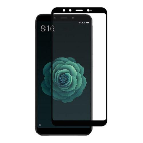 Xiaomi Mi A2 (Mi 6x) -Full cover Tempered Glass ,τζαμάκι προστασίας -Black - (oem) (Αντιγραφή)