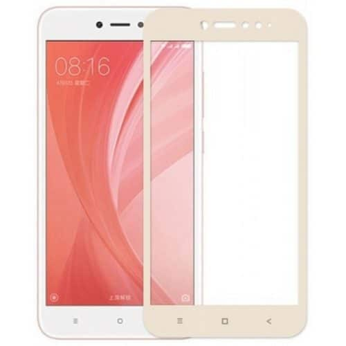 Xiaomi Redmi Note 5 PRO - Full Tempered Glass - Gold- oem