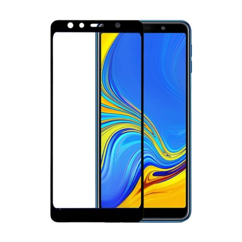 Samsung Galaxy A7 2018 - Full 3D Cover Tempered Glass - Black