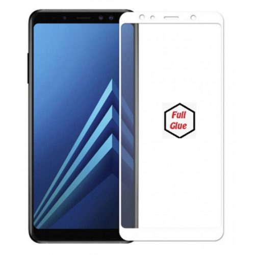 Samsung Galaxy A7 2018 - Full 3D Cover Tempered Glass - White (oem)