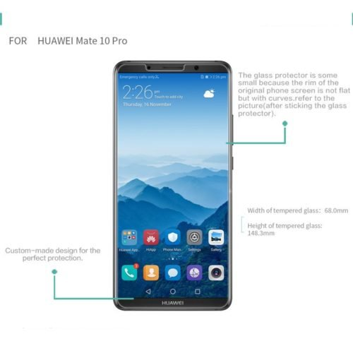 Huawei Mate 10 Pro -not curved glass-