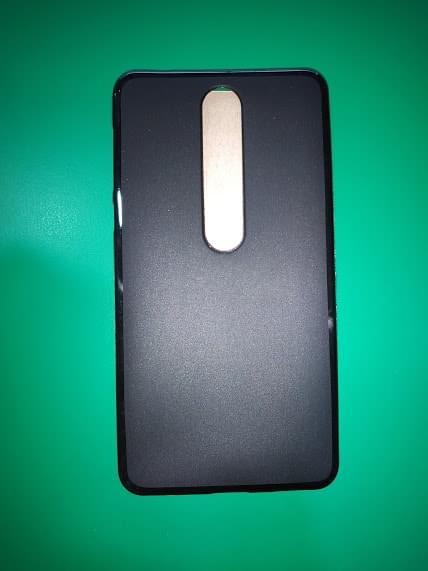 OEM Flash Mat Back Cover Μαύρο (Nokia 6.1) (2)