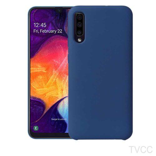 Silky Soft touch TPU Case- Μπλε (Samsung Galaxy A50)