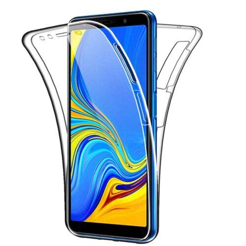 360 Full Cover Σιλικόνης Διάφανο (Galaxy A7 2018)