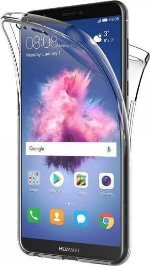 Front and Back TPU Θήκη Huawei P Smart 2019 (Transparent)