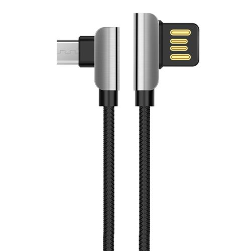 Hoco Braided USB 2.0 to micro USB Cable Μαύρο Fast Charging 2.4A Μαύρο 1.2 μ. (U42)