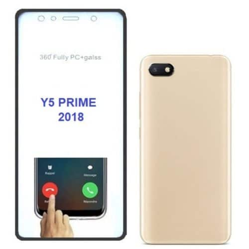 Huawei Y5 (2018) 360 Degree Full Body Case Back Gold and Front Transparent (oem)