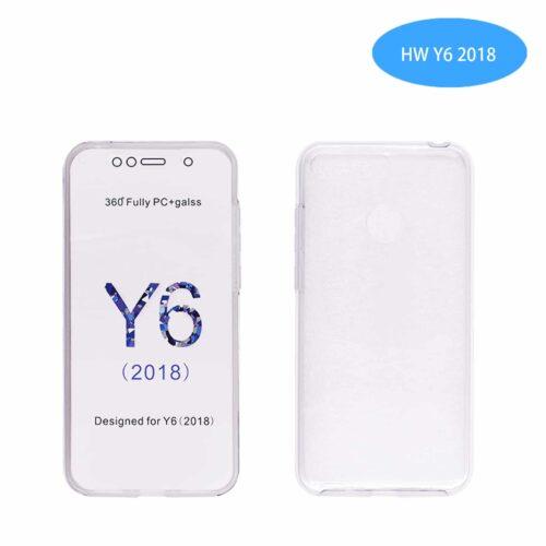OEM Front/Back Διάφανο (Huawei Y6 2018 / Y6 Prime 2018 ) με δακτυλικό αποτύπωμα (