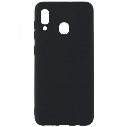 Soft Touch Back Cover Σιλικόνης Μαύρο (Galaxy A20e)