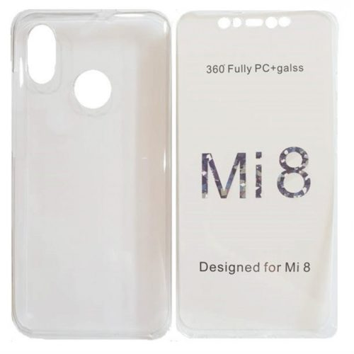Xiaomi Mi 8 360 Full Front and Back Hard Silicone Case Transparent (oem)