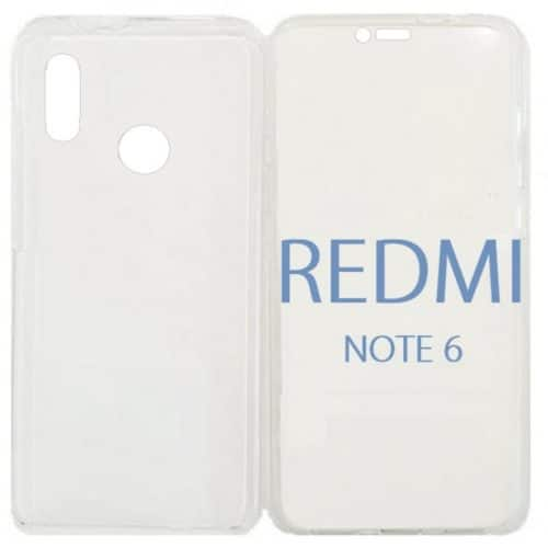 Xiaomi Redmi Note 6 Pro 360 Degree Full Body Case With Hard Back Cover Clear (oem)
