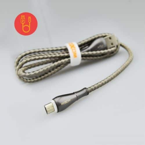 Καλώδιο Micro USB to usb Ταχείας Φόρτισης MoXom CC-78 Spring Wire 2.4A