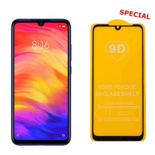 9D Full Glue Full Face Tempered Glass Black (Redmi Note 7 7 Pro