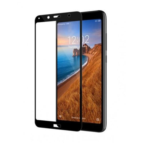 5D Full Glue Full Face Tempered Glass Black (Redmi 7A)