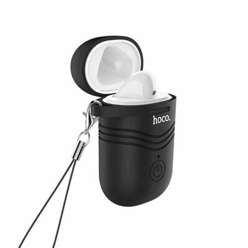 Wireless Mono Headset Hoco E39L Mirth (αριστερό) Λευκό με μαύρη θήκη σιλικόνης
