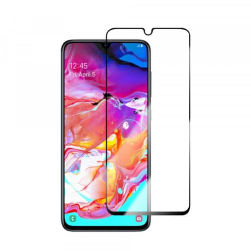 5D Full Glue Full Face Tempered Glass Black (Galaxy A70)
